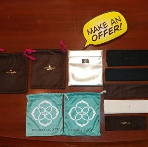 Lot of 10 D&G, Kate Spade Jewelry Bag/Wipes